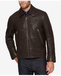 Andrew Marc - Men's Leather Bomber Jacket - Lyst