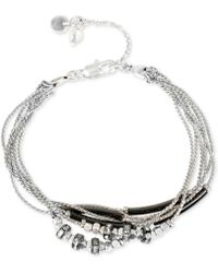 Kenneth Cole - Two-tone Multi-chain Crystal Bracelet - Lyst