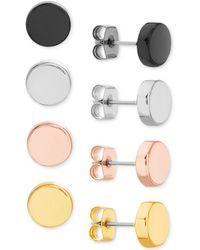 Steve Madden - Multi-tone 4-pc. Set Circle Stud Earrings - Lyst