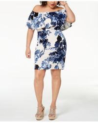 Soprano - Trendy Plus Size Printed Off-the-shoulder Dress - Lyst