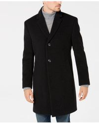 Nautica - Classic/regular Fit Wool/cashmere Blend Solid Overcoat - Lyst