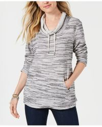Style & Co. - Petite Printed Cowl-neck Sweatshirt, Created For Macy's - Lyst