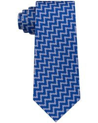 Sean John - Angular Herringbone Silk Tie - Lyst