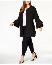 Alfani - Plus Size Ruffle-sleeve Zip-up Jacket, Created For Macy's - Lyst