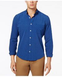 Izod - Men's Performx Check-print Pocket Shirt - Lyst