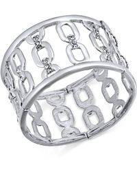 INC International Concepts - I.n.c. Silver-tone Wide Link Stretch Bracelet, Created For Macy's - Lyst