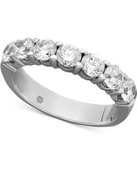 Macy's | Certified Seven Diamond Station Band Ring In 14k White Gold (1-1/2 Ct. T.w.) | Lyst