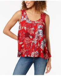 Style & Co. - Printed Button-front Blouse, Created For Macy's - Lyst