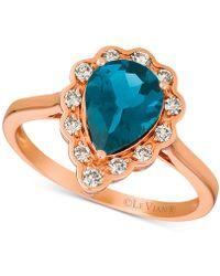 Le Vian - ® London Blue Topaz (1-5/8 Ct. T.w.) & Diamond (1/4 Ct. T.w.) Ring In 14k Rose Gold - Lyst