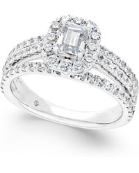 Macy's - Diamond Engagement Ring (1-3/4 Ct. T.w.) In 14k White Gold - Lyst