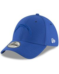 d14b3d1c1 KTZ - Los Angeles Chargers Official Color Rush 39thirty Stretch Fitted Cap  - Lyst