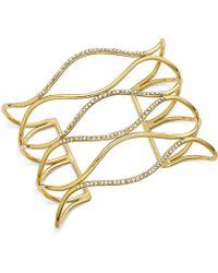 INC International Concepts - Silver-tone Pavé Open Cuff Bracelet - Lyst