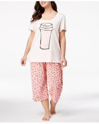 Hue - ® Plus Size Printed Capri Pajama Set - Lyst