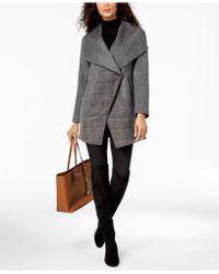 T Tahari - Asymmetrical Oversize-collar Coat - Lyst