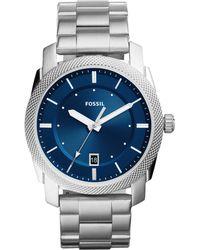 Fossil - Men's Machine Stainless Steel Bracelet Watch 42mm Fs5340 - Lyst