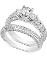 Macy's - Diamond Bridal Set (2-1/2 Ct. T.w.) In 14k White Gold - Lyst