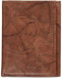 Perry Ellis - Crunch Tri-fold Leather Wallet - Lyst