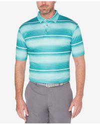 PGA TOUR - Heathered Stripe Polo - Lyst