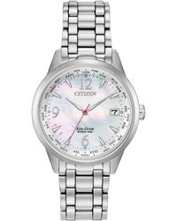 7dab61bb9a0 Citizen - World Time (non A-t) Stainless Steel Bracelet Watch 36mm - Lyst
