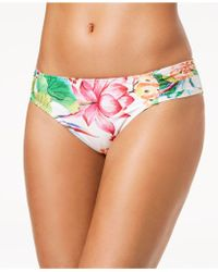 La Blanca - Bora Bora Printed Side-shirred Bikini Bottoms - Lyst