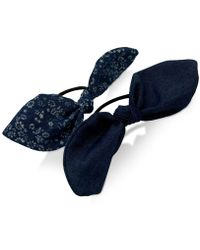 Guess - Denim 2-pc. Set Knotted Ponytail Holders - Lyst