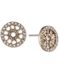 Marchesa - Gold-tone Pavé Starburst Disc Stud Earrings - Lyst