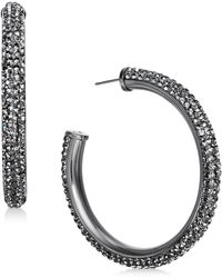 Kate Spade - Crystal Hoop Earrings - Lyst