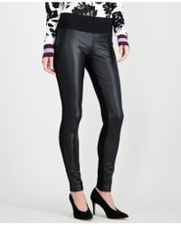 INC International Concepts - I.n.c. Crackle-front Ponté-knit Skinny Pants, Created For Macy's - Lyst