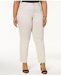 Charter Club - Plus Size Tummy-control Straight-leg Jeans, Saturated Black Wash - Lyst