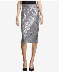 Eci - Metallic Pencil Skirt - Lyst
