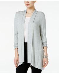 Style & Co. - Drape-front High-low-hem Cardigan - Lyst