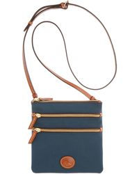 Dooney & Bourke - North South Triple Zip Nylon Crossbody - Lyst