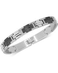 Macy's - Black Diamond Cross Link Bracelet (2 Ct. T.w.) In Stainless Steel - Lyst