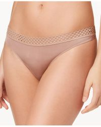 B.tempt'd - Tied In Dots Lace-waist Thong 976238 - Lyst