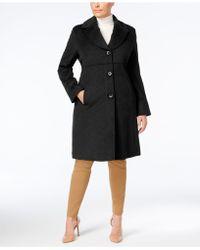 Jones New York | Plus Size Notched Shawl-collar Walker Coat | Lyst