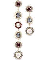 Swarovski - Gold-tone Imitation Pearl, Crystal & Stone Asymmetrical Detachable Earrings - Lyst