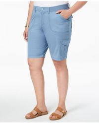 Lee Platinum - Plus Size Denim Cargo Shorts - Lyst