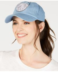 8b17ee99c40 DKNY - Embroidered Logo Token Baseball Hat - Lyst