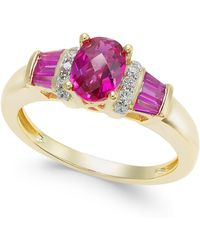 Macy's - Ruby (1-1/2 Ct. T.w.) And Diamond Accent Ring In 14k Gold - Lyst