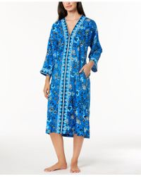 Charter Club - Woven Printed Caftan, Created For Macy's - Lyst
