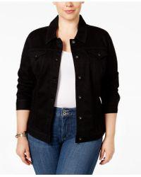 Style & Co. - Plus Size Denim Jacket, Mosaic Wash - Lyst