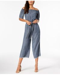 Trina Turk - Chambray Off-the-shoulder Jumpsuit - Lyst