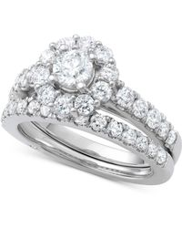 Marchesa - Certified Diamond Bridal Set (1 Ct. T.w.) In 18k White Gold - Lyst
