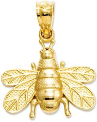 Macy's - 14k Charm, Polished And Satin Bee Charm - Lyst