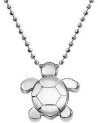 Alex Woo - Turtle Pendant Necklace In Sterling Silver - Lyst