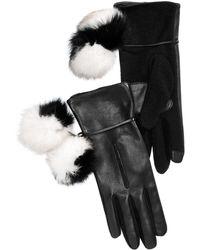 Echo - Colorblocked Pom-pom Gloves - Lyst