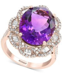 Effy Collection - Effy® Amethyst (8-3/8 Ct. T.w.) & Diamond (9/10 Ct. T.w.) Ring In 14k Rose Gold - Lyst