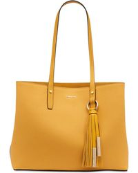 CALVIN KLEIN 205W39NYC - Maggie Leather Tote - Lyst