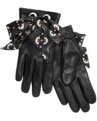 Echo - Foulard Bow Leather Gloves - Lyst