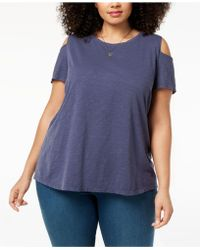 Style & Co. - Plus Size Cold-shoulder T-shirt, Created For Macy's - Lyst